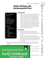 Environmental Print and Fluency/Comprehension: Rebus Writing