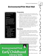 Environmental Print and Fluency/Comprehension: Word Wall