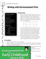 Environmental Print and Fluency/Comprehension: Writing