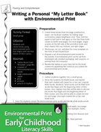 "Environmental Print and Fluency/Comprehension: Writing a ""My Letter Book"""