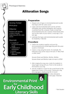 Environmental Print and Phonological Awareness: Alliteration Songs