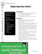 Environmental Print and Phonological Awareness: Beginning-Letter Match