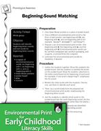 Environmental Print and Phonological Awareness: Beginning-Sound Matching