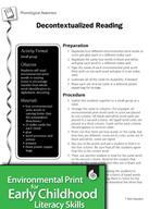 Environmental Print and Phonological Awareness: Decontextu