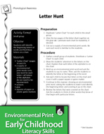 Environmental Print and Phonological Awareness: Letter Hunt