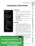 Environmental Print and Phonological Awareness: Long and Short Vowels