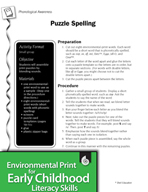 Environmental Print and Phonological Awareness: Puzzle Spelling
