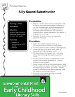 Environmental Print and Phonological Awareness: Silly Sound Substitution