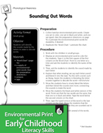 Environmental Print and Phonological Awareness: Sounding Out Words