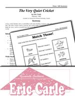 Eric Carle Literature Activities - The Very Quiet Cricket
