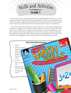 Essential Math Skills - Skills and Activities for Proficiency in First Grade