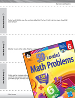 Expressions and Equations Leveled Problems: Money Equations