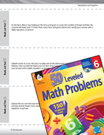 Expressions and Equations Leveled Problems: Related Equations