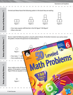 Expressions and Equations Leveled Problems: Various and Sundry Patterns
