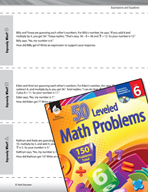Expressions and Equations Leveled Problems: Word Problems