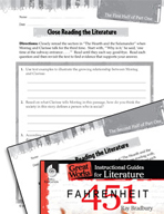 Fahrenheit 451 Close Reading and Text-Dependent Questions (Great Works Series)