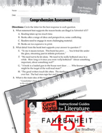 Fahrenheit 451 Comprehension Assessment (Great Works Series)