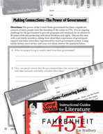 Fahrenheit 451 Making Cross-Curricular Connections (Great Works Series)