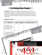 Fahrenheit 451 Post-Reading Activities (Great Works Series)
