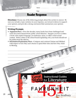 Fahrenheit 451 Reader Response Writing Prompts (Great Works Series)