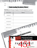 Fahrenheit 451 Vocabulary Activities (Great Works Series)