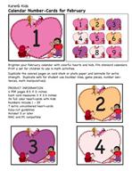February Calendar Numbers by Karen's Kids