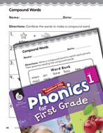 First Grade Foundational Phonics Skills: Compound Words