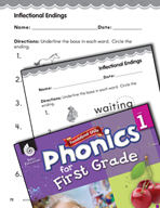 First Grade Foundational Phonics Skills: Inflectional Endings