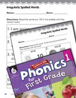 First Grade Foundational Phonics Skills: Irregularly Spell