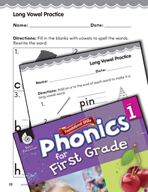First Grade Foundational Phonics Skills: Long Vowel Practice