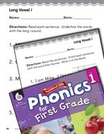 First Grade Foundational Phonics Skills: Long Vowel i