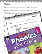 First Grade Foundational Phonics Skills: Syllables