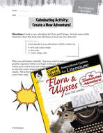 Flora and Ulysses - The Illuminated Adventure Post-Reading Activities (Great Works Series)