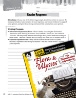 Flora and Ulysses - The Illuminated Adventure Reader Response Writing Prompts (Great Works Series)