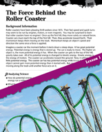 Forces and Motion Inquiry Card - The Force Behind the Roller Coaster