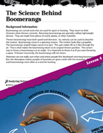 Forces and Motion Inquiry Card - The Science Behind Boomerangs