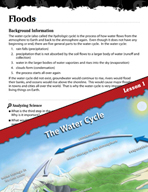 Forces of Nature Inquiry Card - Floods