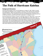 Forces of Nature Inquiry Card - The Path of Hurricane Katrina