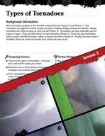Forces of Nature Inquiry Card - Types of Tornadoes