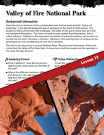 Forces of Nature Inquiry Card - Valley of Fire National Park