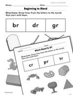 Foundational Skills: Blends Practice