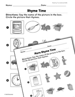 Foundational Skills: Rhyme Time Practice