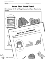 Foundational Skills: Short Vowels Practice