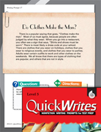 Four Quick Fifth Grade Writing Prompts (Set 5)