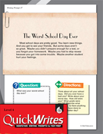 Four Quick Fourth Grade Writing Prompts (Set 10)