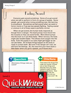 Four Quick Fourth Grade Writing Prompts (Set 2)