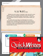 Four Quick Secondary Writing Prompts (Set 10)