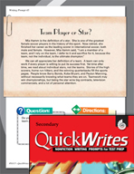 Four Quick Secondary Writing Prompts (Set 12)