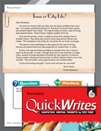 Four Quick Secondary Writing Prompts (Set 2)