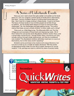 Four Quick Secondary Writing Prompts (Set 3)